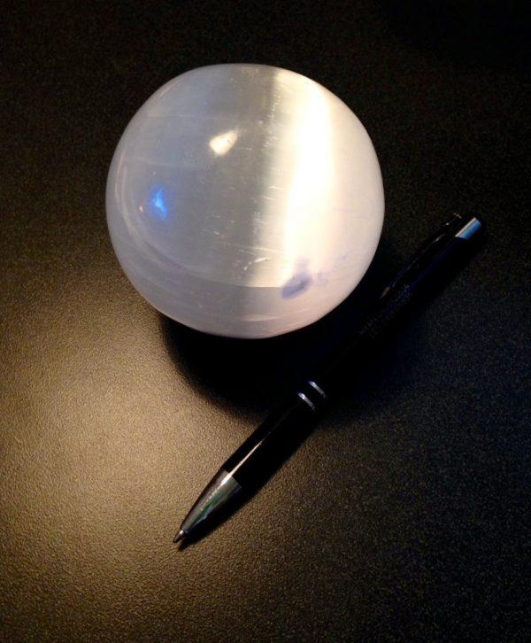 Selenite Sphere - Med