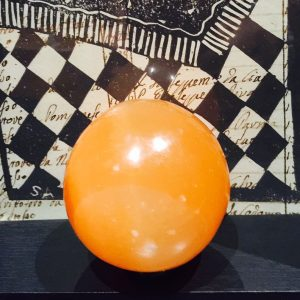 Selenite Sphere - Peach