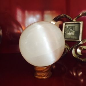 Selenite Sphere, Peach - Med
