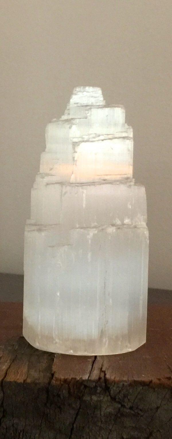 Selenite Tower (med) - approx 10 cm high