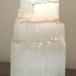 Selenite Tower (sml) - approx 6 cm high