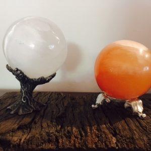 Selenite Sphere Set - save > 10%