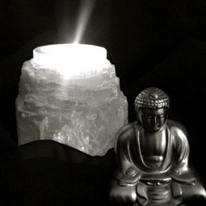 Selenite Tea Light Candle Holders
