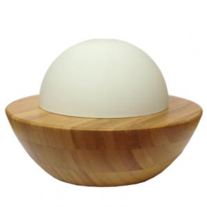 Ultrasonic Bamboo & Glass Aromatherapy Diffuser - Dome