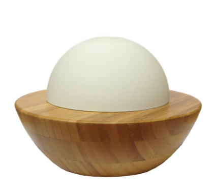 Ultrasonic Bamboo & Glass Aromatherapy Diffuser - Dome