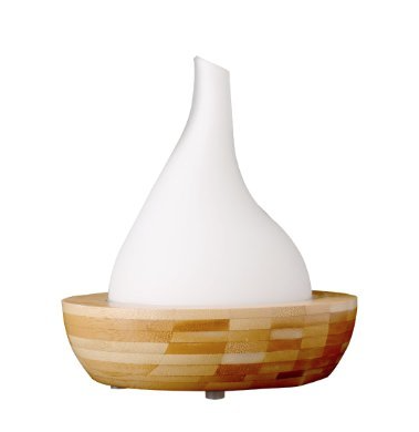 Ultrasonic Bamboo & Glass Aromatherapy Diffuser - Teardrop