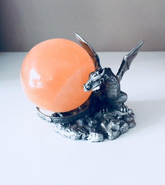 Selenite Sphere - Large (peach)