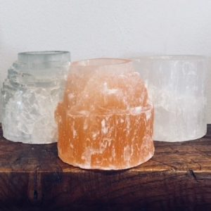 Selenite Tea Light Candle Holder - buy 1, get a 2nd for half price