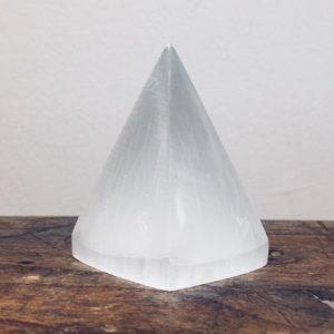 Selenite Pyramid Small (tall)