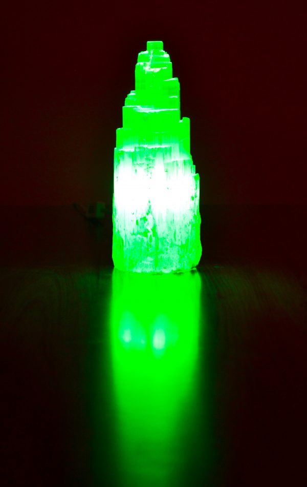 Selenite Lamp 30-35cm high