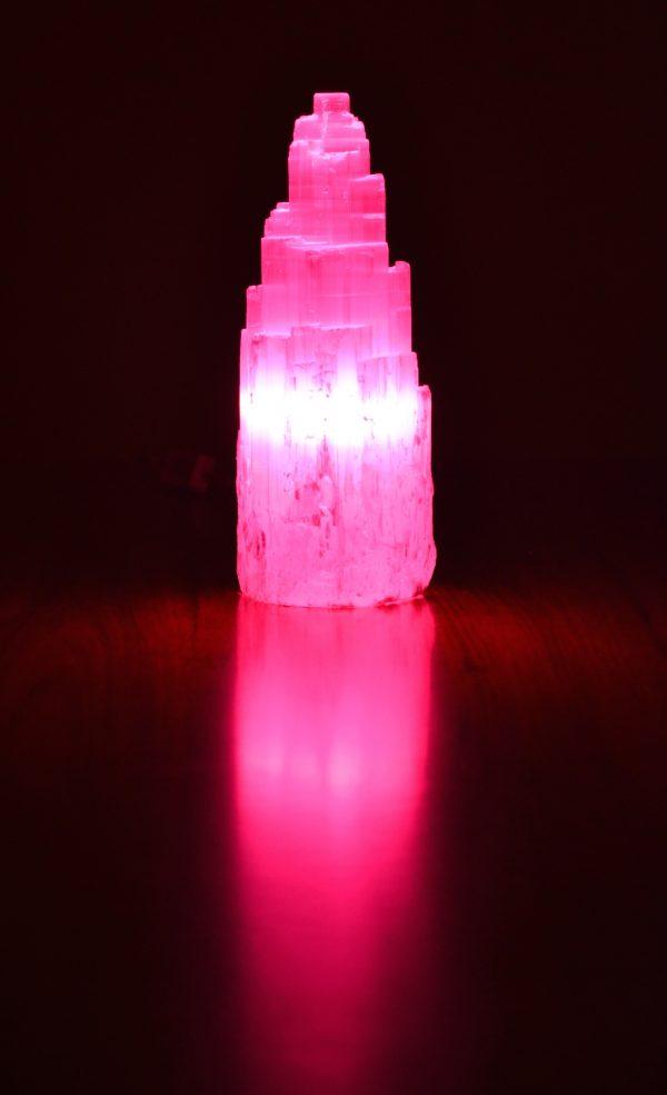 Selenite Lamp 25-30cm high
