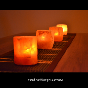 Natural Rock Salt Tea Light Holder