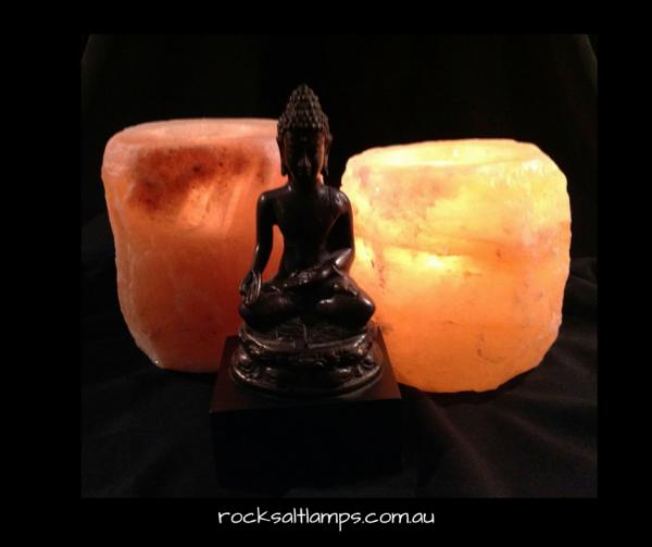 Natural Rock Salt Tea Light Holder