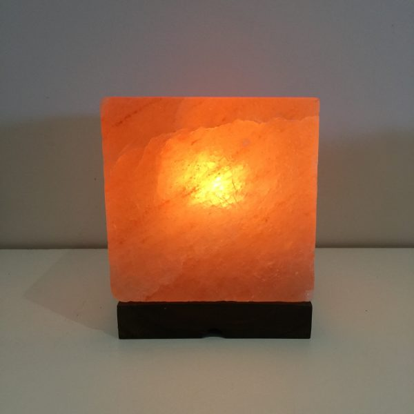 Square Himalayan  Salt Lamp (Med)